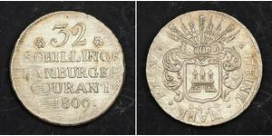 32 Shilling Stati federali della Germania Argento
