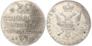 32 Shilling Alemania Plata