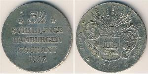 32 Shilling States of Germany Plata