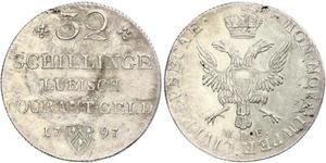 32 Shilling Deutschland Silber