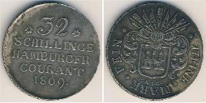 32 Shilling States of Germany Silver