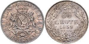 36 Grote States of Germany Silber