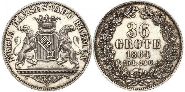36 Grote States of Germany Silver