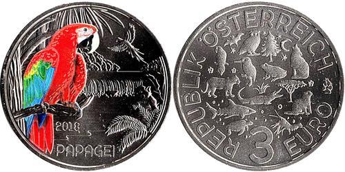 3 Євро Австрійська Республіка (1955 - ) Мідь
