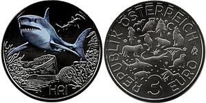 3 Євро Австрійська Республіка (1955 - ) Нікель/Мідь