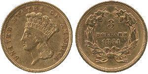 3 Доллар США (1776 - ) Золото
