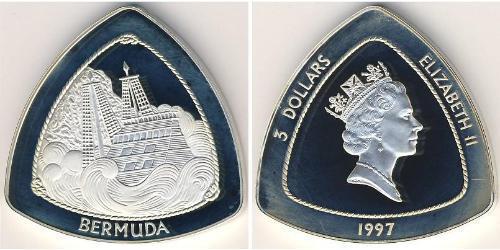 3 Доллар Бермудские Острова Серебро Елизавета II (1926-)