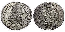 3 Крейцер Австрія Срібло Леопольд I Габсбург(1640-1705)