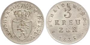 3 Крейцер Великое герцогство Гессен (1806 - 1918) Срібло