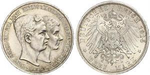 3 Марка Брауншвейг (герцогство) (1815 - 1918) Серебро Эрнст Август Брауншвейгский (1887 - 1953)