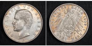3 Марка Королевство Бавария (1806 - 1918) Серебро Отто I (король Баварии)(1848 – 1916)
