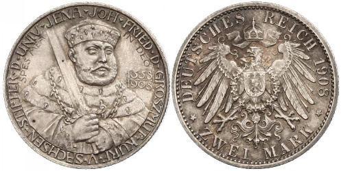 3 Марка Саксен-Веймар-Эйзенах (1809 - 1918) Серебро