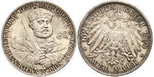 3 Марка Герцогство Саксен-Веймар-Ейзенахське (1809 - 1918) Срібло