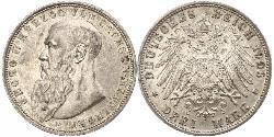 3 Марка null Срібло Georg II, Duke of Saxe-Meiningen