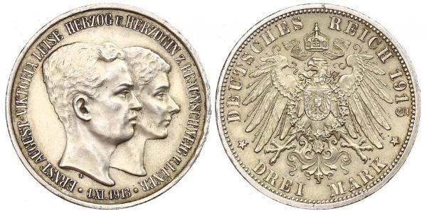 3 Марка null Срібло Ernest Augustus, Duke of Brunswick (1887 - 1953)