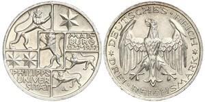 3 Марка / 3 Reichsmark Веймарская республика (1918-1933) Серебро