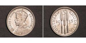 3 Пенни Южная Родезия (1923-1980) Серебро