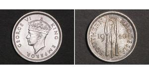 3 Пенни Южная Родезия (1923-1980) Серебро Георг VI (1895-1952)