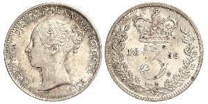 3 Пені Сполучене королівство Великобританії та Ірландії (1801-1922) Срібло Вікторія (1819 - 1901)