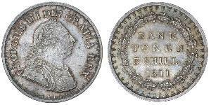 3 Шилінг Сполучене королівство Великобританії та Ірландії (1801-1922) Срібло Георг III (1738-1820)