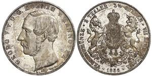 3.5 Гульден / 2 Талер Королівство Ганновер (1814 - 1866) Срібло Георг V (король Ганновера) (1819 - 1878)