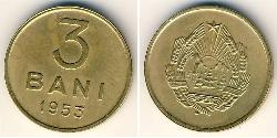3 Ban Socialist Republic of Romania (1947-1989) Copper/Nickel/Zinc