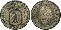 3 Batz Schweiz Silber