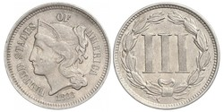 3 Cent 美利堅合眾國 (1776 - ) 銀