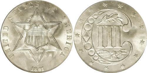 3 Cent 美利堅合眾國 (1776 - ) 銀/銅