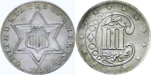 3 Cent USA (1776 - ) Copper/Silver