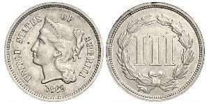 3 Cent Vereinigten Staaten von Amerika (1776 - ) Silber