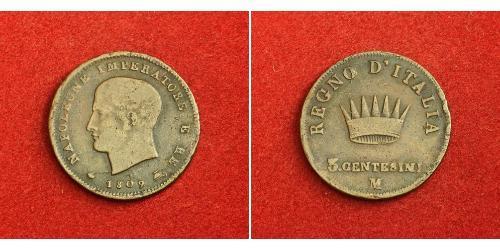 3 Centesimo Königreich Italien (1805–1814) Kupfer Napoleon Bonaparte(1769 - 1821)