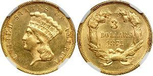 3 Dollar USA (1776 - ) Gold