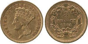 3 Dollar USA (1776 - ) Gold