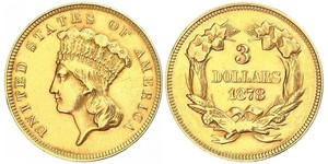 3 Dollar Vereinigten Staaten von Amerika (1776 - ) Gold