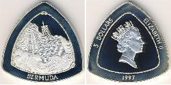 3 Dollar Bermuda Silber Elizabeth II (1926-)