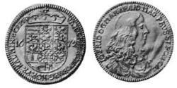 3 Ducat Principality of Ansbach (1398–1792) Gold John Frederick, Margrave of Brandenburg-Ansbach (1654 – 1686)
