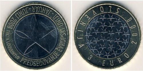 3 Euro Eslovenia Bimetal