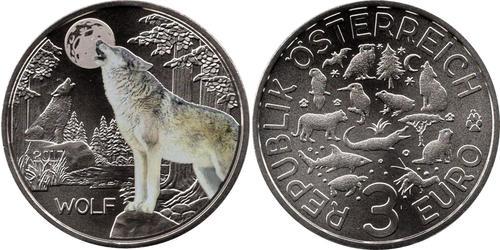 3 Euro Republic of Austria (1955 - ) Cobre