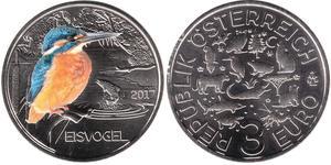 3 Euro Republic of Austria (1955 - ) Copper