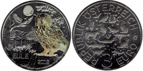 3 Euro Republic of Austria (1955 - ) Rame