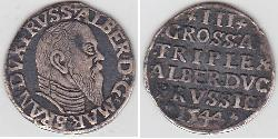 3 Grosh States of Germany / Margraviate of Brandenburg (1157–1806) / Germany Silver Albert, Duke of Prussia