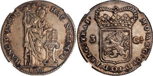 3 Gulden Provincias Unidas de los Países Bajos (1581 - 1795) Plata