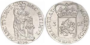 3 Gulden Republik der Sieben Vereinigten Provinzen (1581 - 1795) Silber