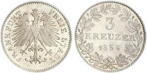 3 Kreuzer 法蘭克福自由市 銀