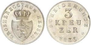 3 Kreuzer Grand-duché de Hesse (1806 - 1918) Argent