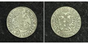 3 Kreuzer Sacro Romano Impero (962-1806) Argento Leopoldo I d