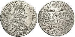 3 Kreuzer Austria Plata Leopoldo I de Habsburgo(1640-1705)