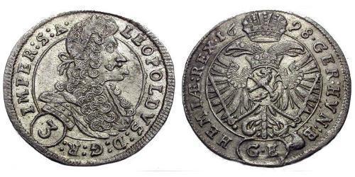 3 Kreuzer Österreich Silber Leopold I. (HRR)(1640-1705)
