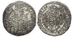 3 Kreuzer Böhmen Silber Karl VI, Römisch-deutscher Kaiser (1685-1740)
